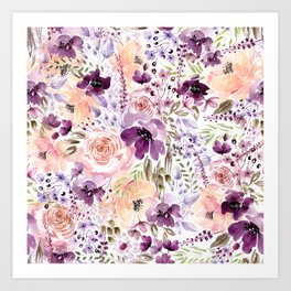 Floral Chaos Art Print