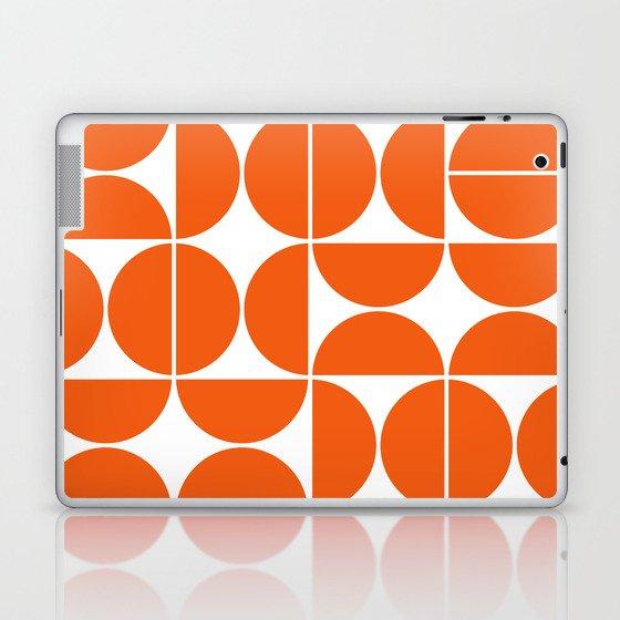 Mid Century Modern Geometric 04 Orange Laptop & iPad Skin
