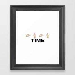 Limiter Time Framed Art Print