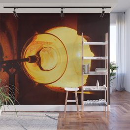 Glass blowing with a hot Glory Hole Wall Mural