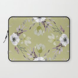 Floral Square Yellow Laptop Sleeve