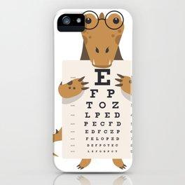 Alligator glasses iPhone Case