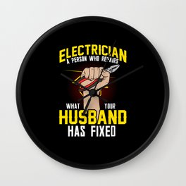 Electrician Electrical Engineer Gift Electronics Wall Clock