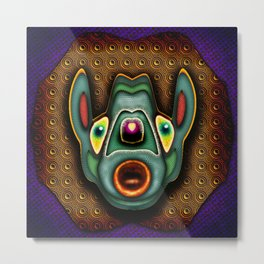 Far Out Freddy Metal Print