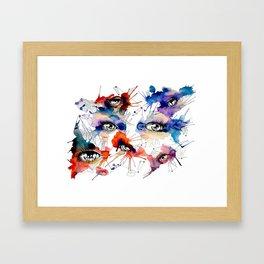 All Eyes by carographic, Carolyn Mielke Framed Art Print