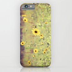 Sunny Meadow -- Yellow Wildflowers Botanical Landscape iPhone 6s Slim Case