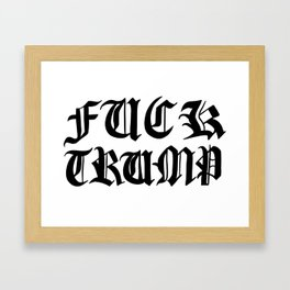 Fuck Trump, but fancy Framed Art Print