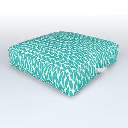 Hand Knit Aqua Outdoor Floor Cushion