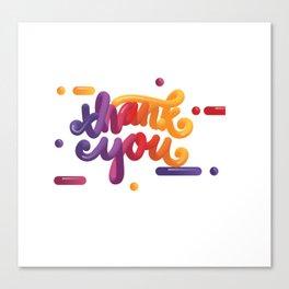 3D Thank You Canvas Print