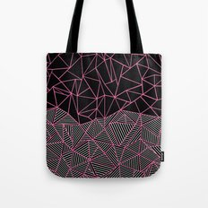 Ab Half an Half Black and Pink Tote Bag