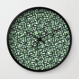 shapes and leaves Wall Clock