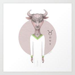 taurus astro portrait Art Print
