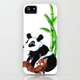 Panda Duo iPhone Case