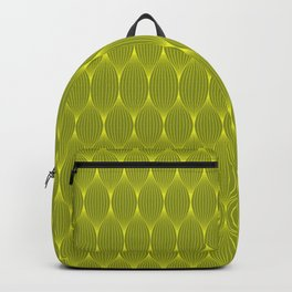 Grey On Yellow Optical Waves Repeat Pattern Backpack