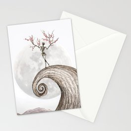 Blooming Skeleton (bright version) Stationery Cards