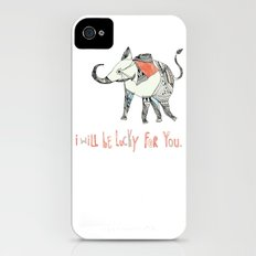i will be lucky for you. iPhone (4, 4s) Slim Case