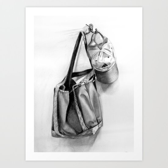 Bag and Hat Art Print