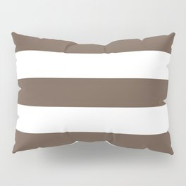 Quincy - solid color - white stripes pattern Pillow Sham