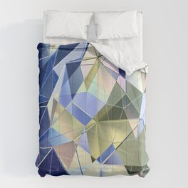 Pastel Fractal Abstract Geometric Print Comforters