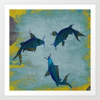 koi Art Prints featuring Koi  by Saundra Myles