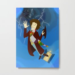 4th Doctor in the Time Vortex Metal Print