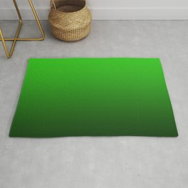 dark to the bright green color gradient Rug