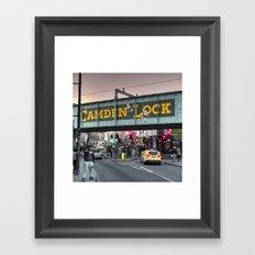 Camden Lock Railway bridge Framed Art Print