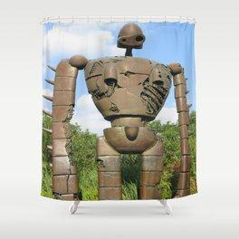 Laputan Robot II Shower Curtain