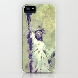 Textured Statue of Liberty iPhone Case