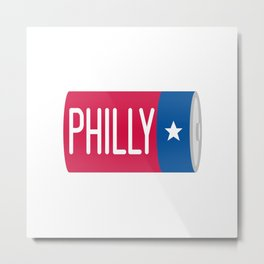 Philadelphia D Battery Metal Print