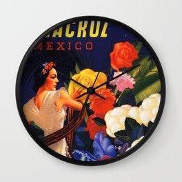 Veracruz Travel Poster Wall Clock
