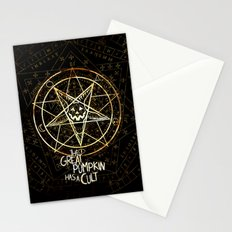 Cult of the Great Pumpkin: Pentagram Stationery Cards