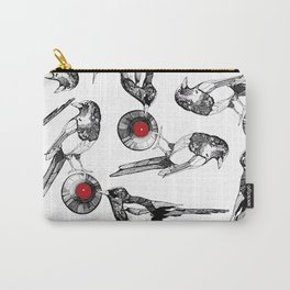 Magpies stealing a vinyl disc Carry-All Pouch