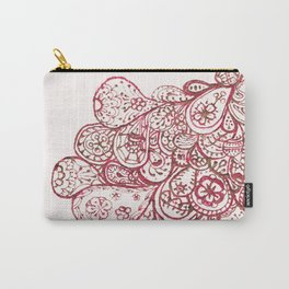 08. Pink Peacock with Henna  Carry-All Pouch