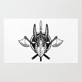 Viking Warrior | Valhalla Odin Asgard Midgard Rug