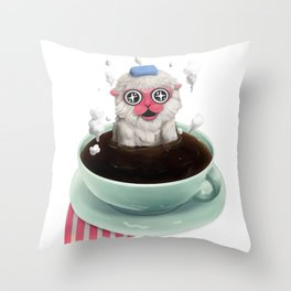 Calming Brew Throw Pillow