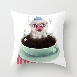 Calming Brew Throw Pillow