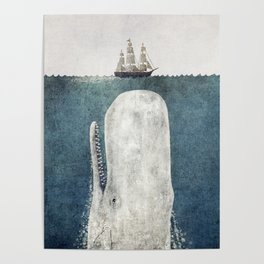 The Whale - vintage  Poster