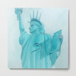 BROOKLYN LIBERTYsquared - metal print Metal Print