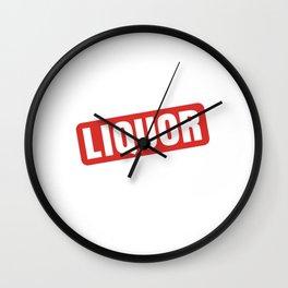 Liquor University Party Animal Spring Break T-Shirt Wall Clock