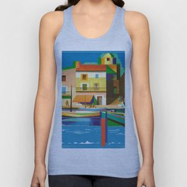 Vintage Travel Poster Unisex Tank Top