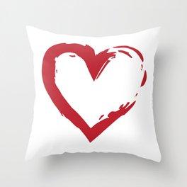 Heart Shape Symbol Throw Pillow