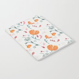 Floral tossed pattern Notebook