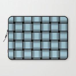 Large Light Blue Weave Laptop Sleeve