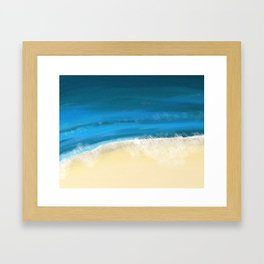 Abstract Beach and Waves Framed Art Print