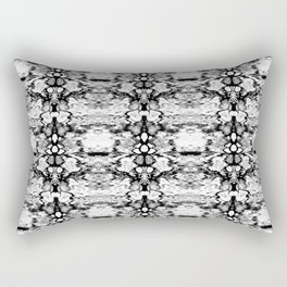 Modern Bohemian Black and White Pattern Rectangular Pillow