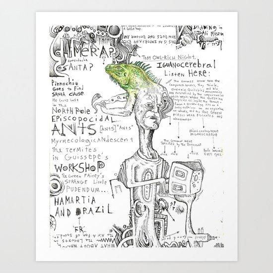 Iguanocerebral Art Print