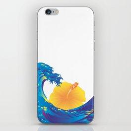 Hokusai Rainbow & Hibiscus_Y  iPhone Skin