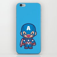 captain iPhone & iPod Skins featuring Captain by Papyroo