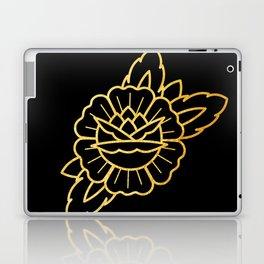 Gold Traditional Rose Laptop & iPad Skin